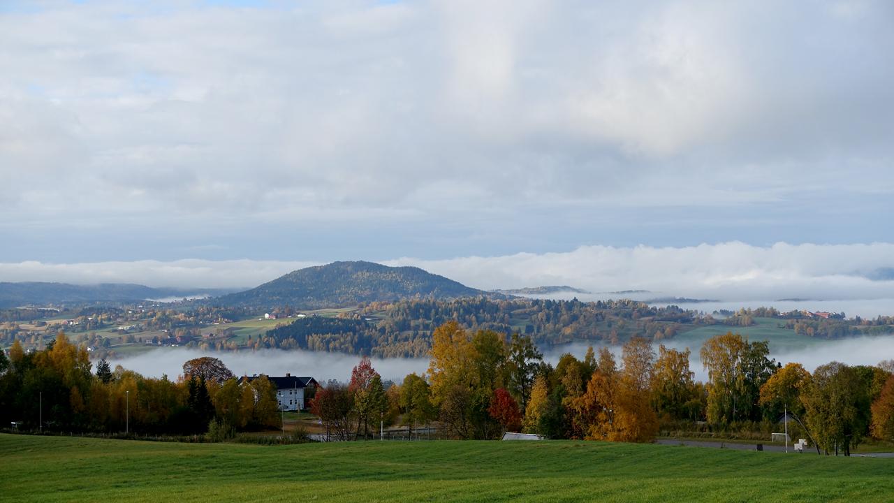 Utsikt mot Sølvsberget fra Lauvlia